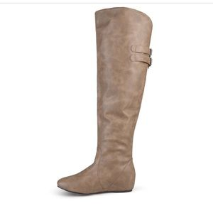 NWT Journee Over-the-Knee Wedge Riding Boots